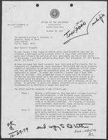 Letter from Edward O. Vetter to William P. Clements, Jr., October 26, 1979