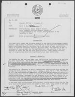 Memo from David Dean to Governor William P. Clements, Jr., regarding Brief on Redistricting Process, May 12, 1981