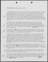 Notes with key points for Press Conference, April 24, 1981