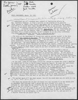 Notes with key points for Press Conference, March 20, 1981