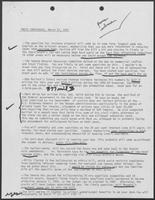 Notes with key points for Press Conference, March 13, 1981