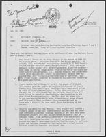 Memo from David Dean to Governor William P. Clements, Jr., regarding Criminal Justice and Juvenile Justice Advisory Board Meetings, July 25, 1980