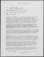 Memo from Ron Lindsey to William P. Clements, Jr., regarding Attached Memo Regarding Media Contact, May 12, 1989