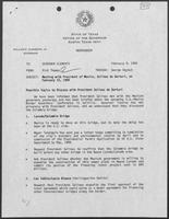 Memo from Rich Thomas to William P. Clements regarding February 15, 1989 Meeting with President of Mexico, Salinas de Gortart, February 9, 1989