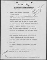 Notes regarding Governor Summit Conference on Agriculture, June 23, 1980