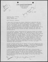 Letter from Jerry Argovitz to William P. Clements, Jr., April 29, 1987