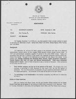 Memo from Rich Thomas to Governor William P. Clements, Jr., regarding U.S. Memories, November 3, 1989