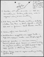 Handwritten meeting notes by William P. Clements, Jr., May 12, 1982