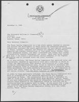Letter from Hilary B. Doran to William P. Clements, November 9, 1988