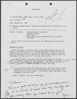 Memo from Jim Neale to George Bayoud, Mike Toomey, and Betsey Bishop, February 25, 1988