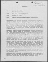 Memo from Mary Jane Manford to William P. Clements, December 18, 1990