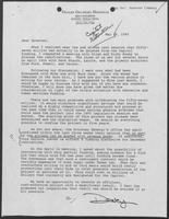 Letter from Dealey Herndon to William P. Clements regarding the Capitol restoration budget, May 29, 1990