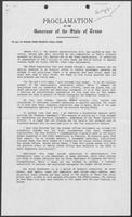 Proclamation by William P. Clements, Jr., regarding the state budget, 1988