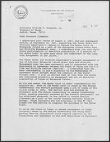 Letter from Donald Hodel, Secretary of the Interior to William P. Clements, November 2, 1987