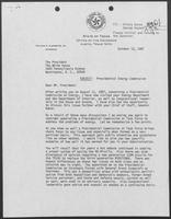 Letter from William P. Clements to President Reagan, November 6, 1987