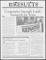 "Newsletter titled ""Results: Texas Department of Commerce Report"" Volume I, Issue 1, April 1988"