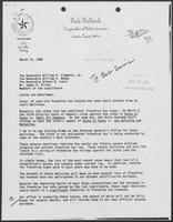 Letter from Bob Bullock, Comptroller to William P. Clements, Jr., March 14, 1988