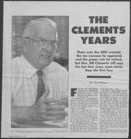 "Newspaper article titled ""The Clements Years,"" December 2, 1990"