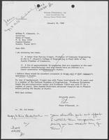 Letter from Peter O'Donnell, Jr. to William P. Clements, January 28, 1988