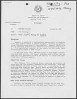 Memo from Rich Thomas to William P. Clements, October 6, 1987