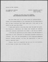 Press release regarding remarks by First Lady Rita Clements for Women in Texas Week news conference, November 16, 1989
