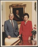 Photograph of Governor William P. Clements, Jr., and Rita Crocker Clements, undated