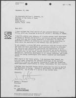Letter from George P. Mitchell to Governor William P. Clements, Jr., September 22, 1982