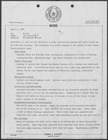 Memo from Jim Kaster, to William P. Clements, Jr., regarding management review, April 2, 1981