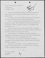News release from the Office of Governor William P. Clements, Jr., announcing appointment of Douglas Owen Brown as special assistant for intergovernmental relations, January 18, 1979