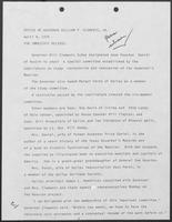 Press release from the Office of Governor William P. Clements, Jr., April 9, 1979