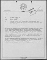 Memo from David A. Dean to Governor William P. Clements, Jr., regarding litigation to force Department of Interior to comply with Outer Continental Shelf Leasing Act and to pull down certain offshore leases scheduled for sale Tuesday, July 31, 1979