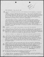 Briefing for Governor William P. Clements, Jr., press conference questions, May 30, 1980