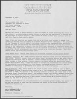 Open letter from William P. Clements to John Hill asking to debate, September 8, 1978