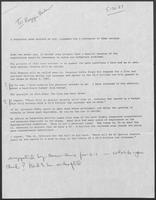 Memo to Reggie Bashur regarding A suggested news release by Clements, May 30, 1987