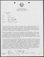 Memo from James R. Huffines and Barry R. McBee to William P. Clements regarding Appointment of Relatives, December 7, 1987