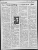 "Newspaper clipping headlined ""How Texas can begin to win war on crime"", July 1, 1988"