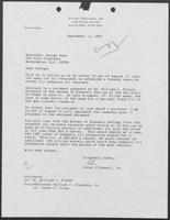 Letter from Peter O' Donnell, Jr. to Vice President George Bush regarding a federal research center for enhanced oil recovery, September 15, 1987