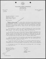 Letter from James Kaster, Chair of Texas Employment Commission to William P. Clements, March 27, 1989