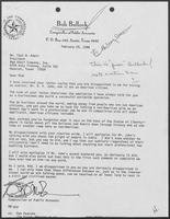 Letter from Bob Bullock to Paul Adair, February 23, 1988