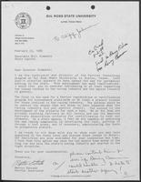 Letter from Martin Estrada of Sol Ross State University to William P. Clements regarding horse racing, February 23, 1988