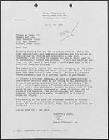 Letter to Tom Luce from Peter O'Donnell regarding Superconducting Super Collider funding, March 28, 1989