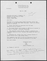 Letter from Peter O'Donnell to William P. Clements regarding President Carter and the Superconducting Super Collider, May 12, 1989
