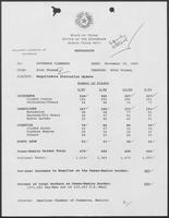 Memo from Rich Thomas to William P. Clements regarding updated Maquiladora statistics, November 16, 1989