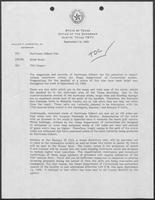 Memo from Rider Scott to Hurricane Gilbert File regarding TDC Impact, September 14, 1988