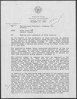 Memo from Rider Scott to William P. Clements regarding Meeting with Conference of Urban Counties, December 19, 1988