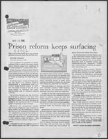 "Newspaper clipping headlined:""Prison reform keeps surfacing"", March 29, 1982"