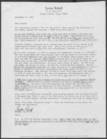 Open letter from Lester Roloff to followers supporting the Clements Campaign, September 17, 1982