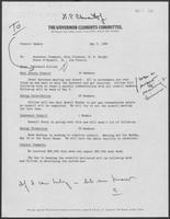 May 5, 1980 memo from Richard Collins to William P. Clements, Rita Clements, H.R. Bright, Peter O'Donnell, and Jim Francis