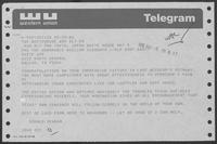 Telegram from Ronald Reagan to William P. Clements, Jr., May 5, 1986