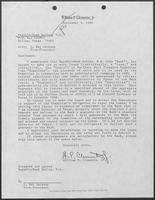 Letter from William P. Clements, Jr. to the RepublicBank Dallas, September 9, 1986